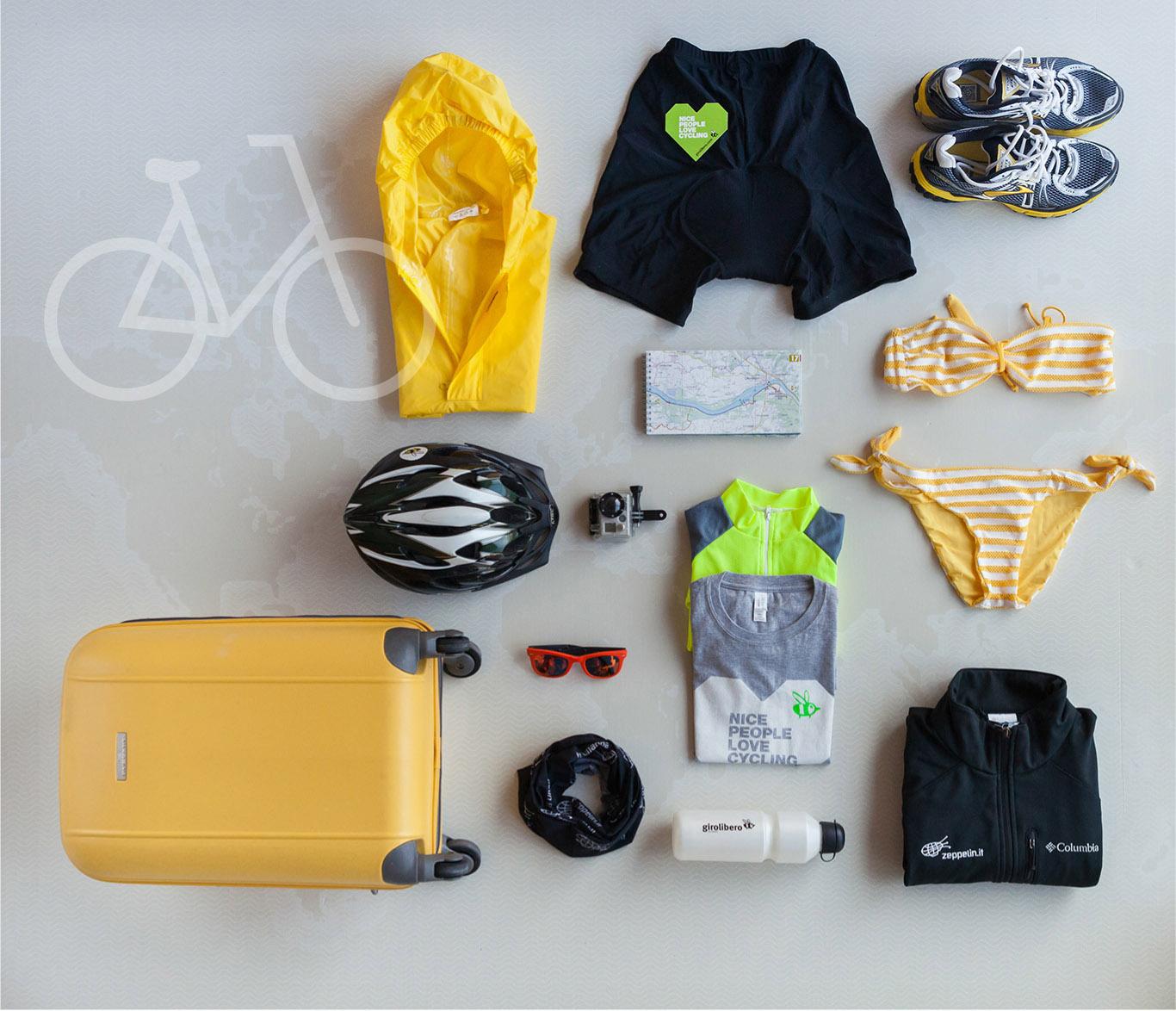 Cosa mettere in valigia per una vacanza in bici