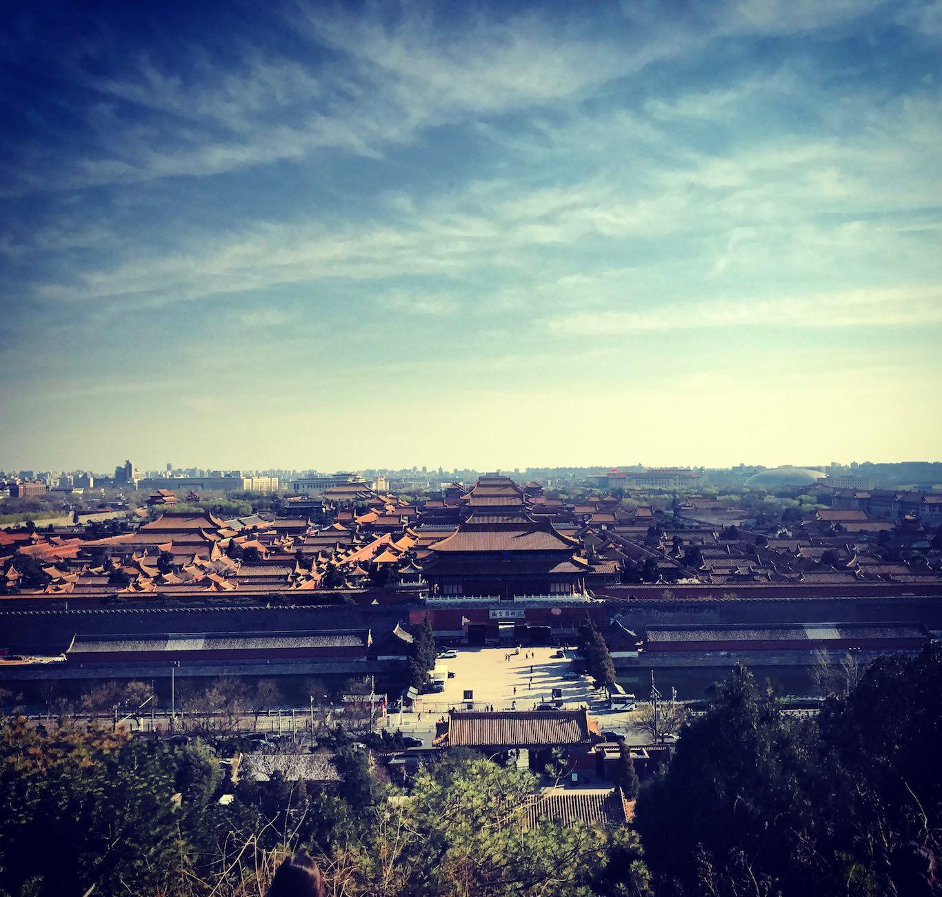 Vista sulla Citta Proibita-Pechino Cina