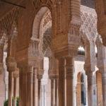 Le colonne del Patio dei Leoni