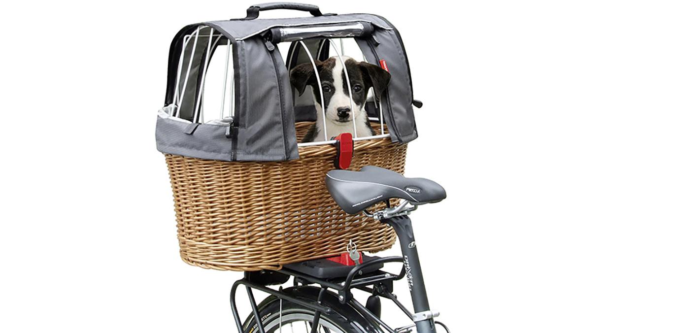 Cestino bici per cane con attacco