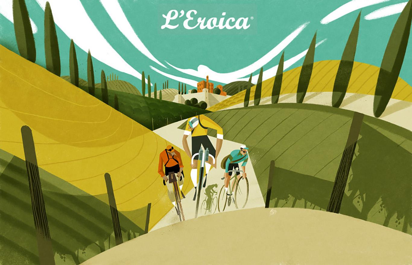 Poster sulla bici di Riccardo Guasco
