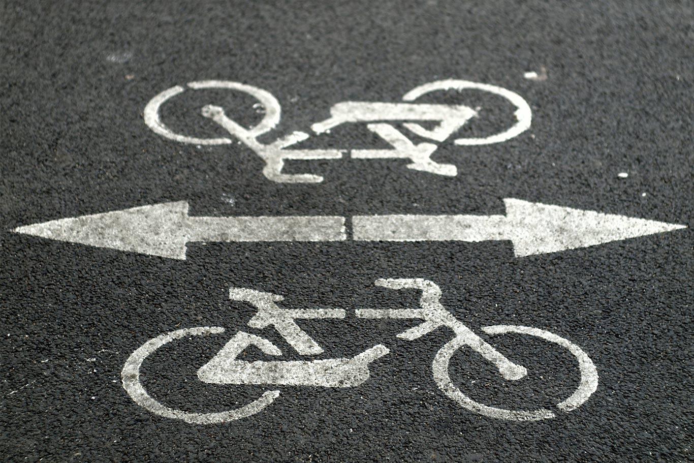 Segnaletica pista ciclabile